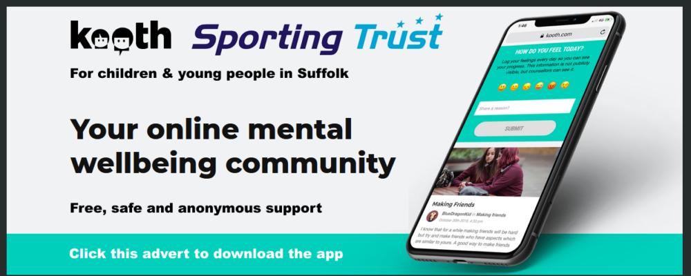 Slide Kooth and the Sporting Trust supporting the mental wellbeing of children and young people